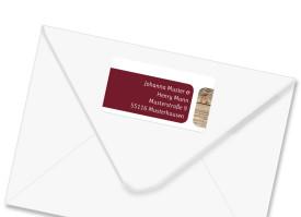 Adressetiketten zur Hochzeit Zürich Bordeaux