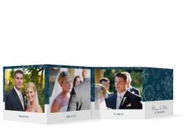 Hochzeit Foto-Leporello Reykjavik (Gastgeschenk) Blau