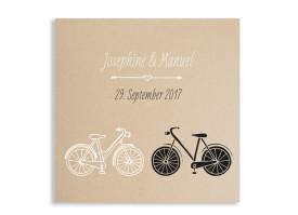 Hochzeitseinladungen Fahrrad Beige