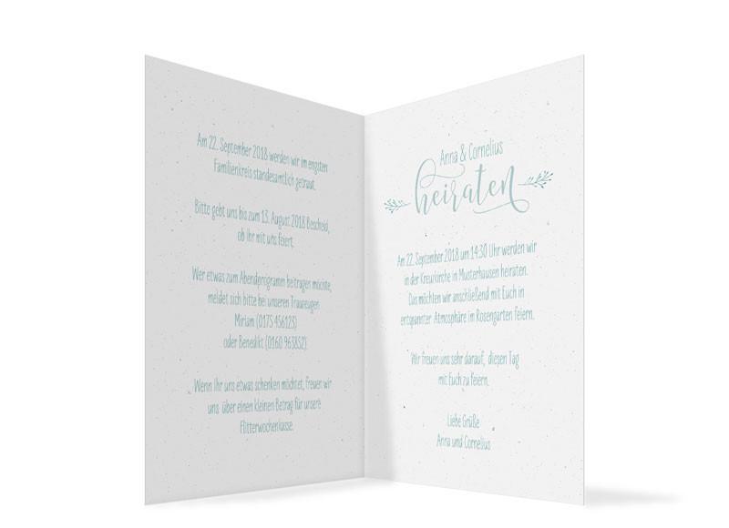 Einladung Zur Hochzeit Blumenkranz