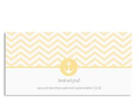 Taufkarte mit Anker Hamptons Anchor Gelb