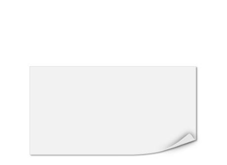 Einlegeblatt unbedruckt, Transparentpapier, 147 x 78 mm