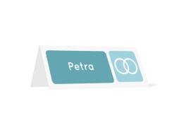 Tischkarten zur Hochzeit Kreta (Klappkärtchen quer)