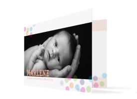 Geburtskarte Marlene/Marlon Apricot