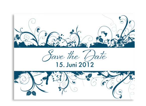 Save-The-Date-Hochzeitskarte Miami (Postkarte A6)