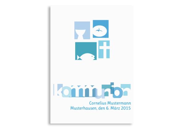 Danksagungen zur Kommunion Cora/Cornelius (Postkarte)