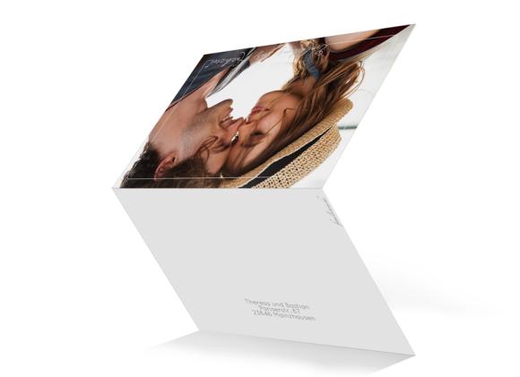 Einladungskarten zur Hochzeit , Motiv: Warschau, Aussenansicht, Farbvariante: weiss