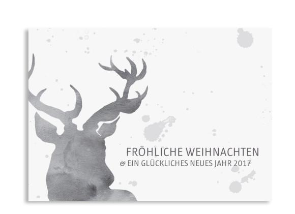 Karte zu Weihnachten Hubertus