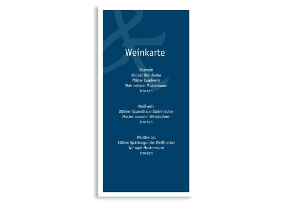 Menükarte Bern (DIN Lang-Karte)
