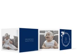 Taufkarten Ria/Rouven Blau