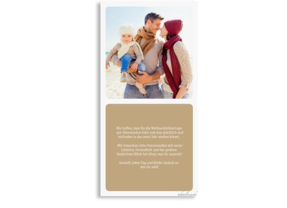 Neujahrskarten Facettenreich, Rückseite der Farbversion: beige