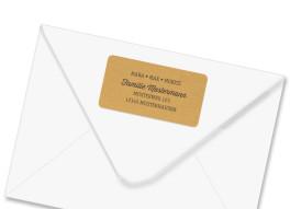 Absender-Adressaufkleber Packpapier