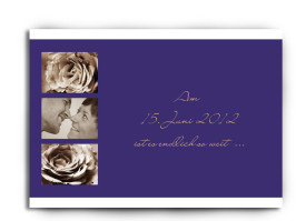 Save-The-Date-Hochzeitskarte Delhi (Postkarte A6) Blau