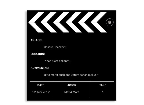 Save-The-Date-Karte Hollywood