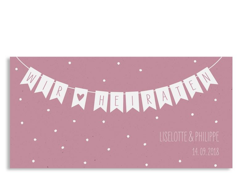 Einladung Zur Hochzeit Wimpelkette (Postkarte DL) ...