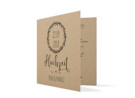 Einladungskarten zur Hochzeit Nature Schwarz