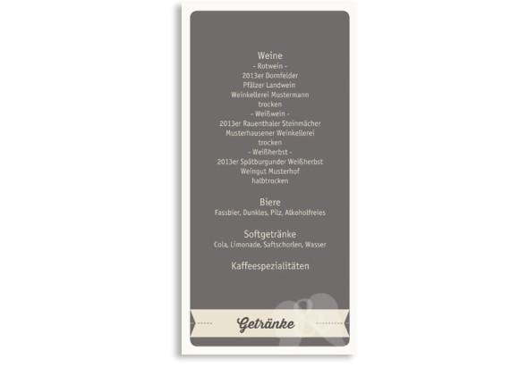 Hochzeitsmenükarten Flugticket (Postkarte)