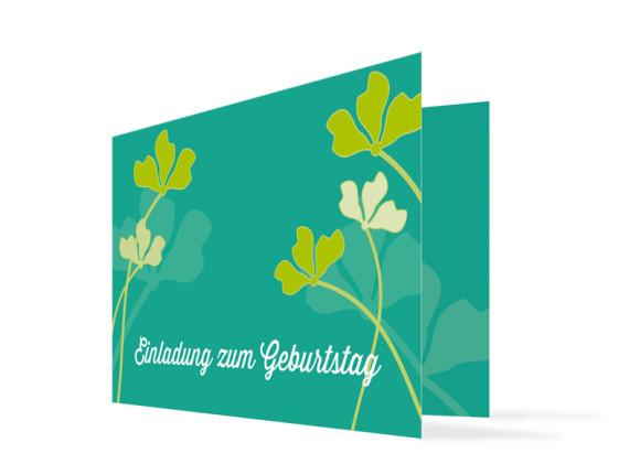 Einladungen zum Geburtstag Growing Fresha (Klappkarte)