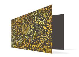 Weihnachtskarte Naturgold Anthrazit