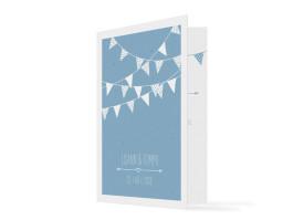 Einladung zur Hochzeit Amsterdam Hellblau