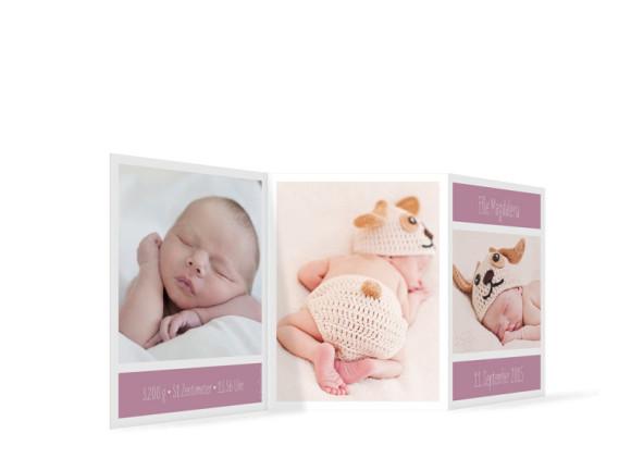 Geburtskarte Efie/Eddy (Leporello A6)