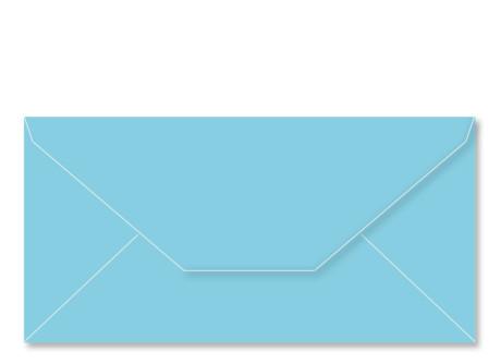 Umschlag im Format DL (220 x 110 mm), hellblau