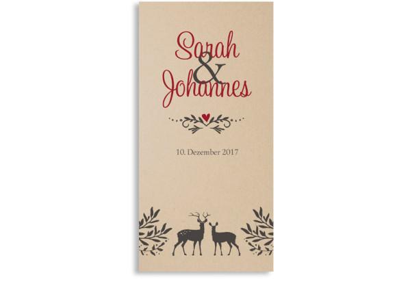 Einladungskarten zur Hochzeit Hirsch