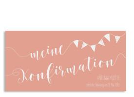 Konfirmation Einladungskarte Frühlingsfrisch Apricot