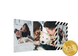 """Weihnachtskarte """"Beere"""" (Leprorello mit Gold)"""