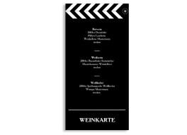 Menükarten Hochzeit Hollywood (DIN Lang-Karte)