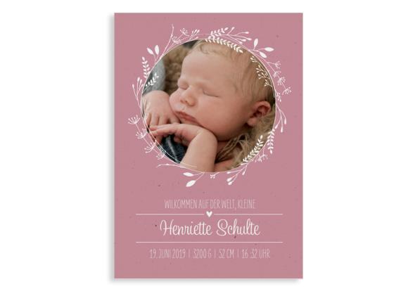 """Danksagung zur Geburt """"Henriette/Henry"""""""