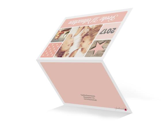 Weihnachtsgrußkarte (Klappkarte, A6), Aussenansicht, Motiv: Lucia, Farbversion: apricot