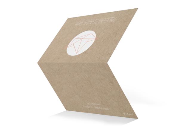 Einladungskarte Taufe, Motiv: Mare, Aussenansicht, Farbvariante: apricot
