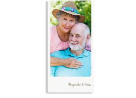 Danksagungskarten zur Goldenen Hochzeit Boston (Postkarte) Beige
