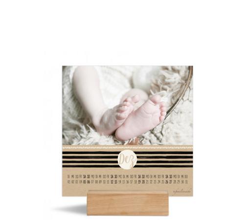 Foto-Tischkalender (150x150 mm), Motiv: Dot, Rückseite, Farbvariante: altweiss