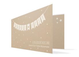 Weihnachtskarte Weihnachtskette (Klappkarte) Altweiß