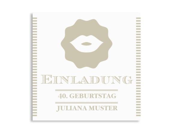 Einladungskarten Lady (quad. Postkarte)