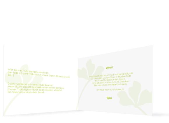 Einladungskarten Growing Fresh ohne Foto, Innenansicht der Farbversion: grün