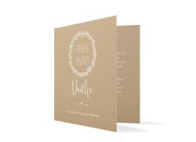 Dankeskarte zur Hochzeit Nature Weiss