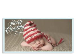 Weihnachtspostkarte Classic Blau