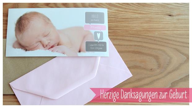 Persönliche Danksagungskarten zur Geburt Ihres Babys