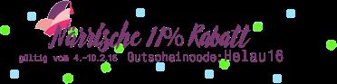 Närrische 11% Rabatt - Gutscheincode: Helau16